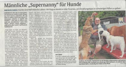 """Zeitungsbericht in der Rheinpfalz"""" vom 17.06.2015"""
